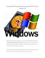 """Tài liệu Giải quyết lỗi """"Setup did not find any hard disk drives"""" khi cài Windows XP ppt"""
