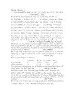Tài liệu Bài tập cân bằng hóa học và mức độ diễn ra của các quá trình hóa học ppt