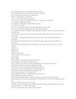 ĐỀ CƯƠNG MÔN SINH LỚP 11