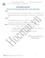 Tài liệu Các bài toán về sự tương giao giữa conic với các đường khác (Bài tập và hướng dẫn giải) docx