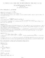 Tài liệu Đề thi thử đại học môn Toán - Lương Thế Vinh Hà Nội pptx