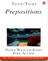 Tài liệu Check preposition test ppt