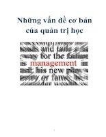 Tài liệu Những vấn đề cơ bản của quản trị học doc