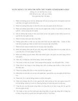 Tài liệu NGÂN HÀNG CÂU HỎI THI MÔN CHỦ NGHĨA XÃ HỘI KHOA HỌC docx