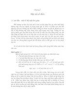 Tài liệu Lý thuyết mật mã - Chương 1 doc