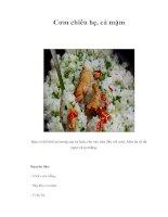 Tài liệu Cơm chiên hẹ, cá mặm pdf