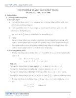 Tài liệu Phương pháp tọa độ trong mặt phẳng ôn thi đại học năm 2009 pptx