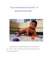 Tài liệu Dạy con nhanh nhẹn, khéo léo từ khi 7 - 10 tháng tuổi của người Nhật pdf
