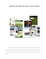 Tài liệu Quảng bá tiếp thị theo ngành nghề pdf