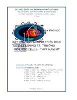 Xây dựng quy trình triển khai e learning tại trường tiểu học   THCS   THPT nam mỹ