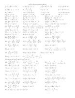 Bài soạn Bài tập tổng hợp về phương trình