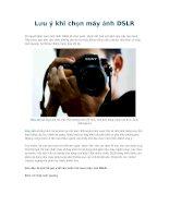 Lưu ý khi chọn máy ảnh DSLR