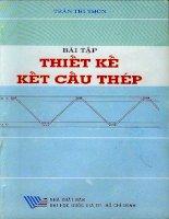 Bài tập thiết kế kết cấu thép ( Trần Thị Thôn )