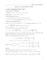 Tài liệu Bài 4: Cực trị hàm đa thức - Trần Phương pdf