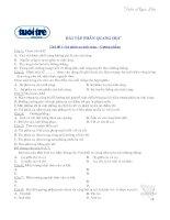 Tài liệu Bài tập trắc nghiệm phần quang học docx