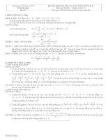 Tài liệu Đề và đáp án luyện thi đại học 2010 khối A-B-C-D đề 1 pptx