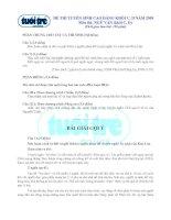 Tài liệu Đề thi và đáp án gợi ý môn Văn khối C,D hệ Cao Đẳng doc