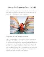 Tài liệu 14 nguyên tắc thành công – Phần 13 pptx