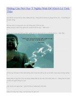 Những Câu Nói Hay Ý Nghĩa Nhất Để Khích Lệ Tinh Thần