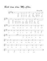 Tài liệu Bài hát biết tìm đâu mẹ cha - Quang Uy (lời bài hát có nốt) pdf
