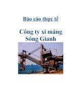 Tài liệu Báo cáo thực tế Công ty xi măng Sông Gianh pdf