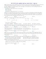 Tài liệu Đề số 09 (Trắc nghiệm đại học môn Hóa) + đáp án ppt