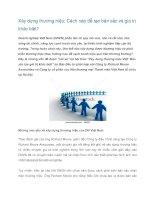 Tài liệu Xây dựng thương hiệu: Cách nào để tạo bản sắc và giá trị khác biệt? doc