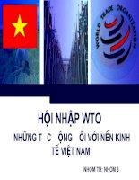 Tài liệu Tác động của việc gia nhập WTO đến kinh tế Việt Nam ppt