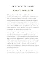 Tài liệu LUYỆN ĐỌC TIẾNG ANH QUA TÁC PHẨM VĂN HỌC-SHORT STORY BY O'HENRY A Matter Of Mean Elevation ppt