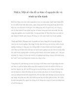Tài liệu M&A: Một số vấn đề cơ bản về nguyên tắc và trình tự tiến hành pdf
