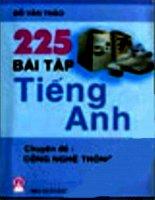 225 BÀI TẬP TIẾNG ANH CHUYÊN ĐỀ CÔNG NGHỆ THÔNG TIN