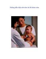 Tài liệu Những dấu hiệu nên đưa bé đi khám sớm docx