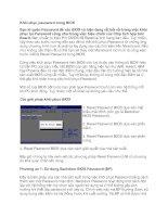 Tài liệu Khôi phục password trong BIOS pdf