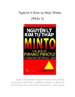 Tài liệu Nguyên lí Kim tự tháp Minto (Phần 3) pptx