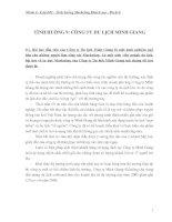 TÌNH HUỐNG 9: CÔNG TY DU LỊCH MINH GIANG