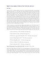 Tài liệu Ngành nông nghiệp và khảo cổ học miền bắc việt nam pdf