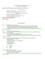 Tài liệu Đề cương ôn thi tôt nghiệp THPT - Sinh học phần 1 pdf