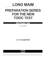 Tài liệu Longman preparation series for the new toeic test part 1 docx