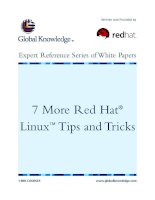 Tài liệu 7 More Red Hat® Linux™ Tips and Tricks docx