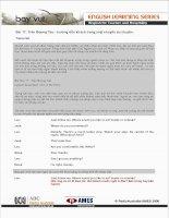 Tài liệu Bài 17: Trên Boong Tàu - hướng dẫn khách trong một chuyến du thuyền. Transcript ppt
