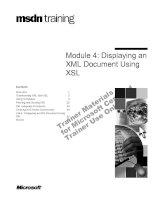 Tài liệu Module 4: Displaying an XML Document Using XSL ppt