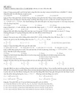 Tài liệu 10 Đề thi Vật lý đại học pptx