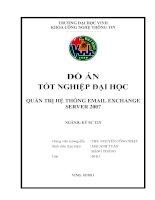 Quản trị hệ thống email exchange server 2007 luận văn tốt nghiệp đại học