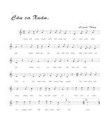Tài liệu Bài hát câu ca xuân - Lê Quốc Thắng (lời bài hát có nốt) pdf