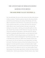 Tài liệu LUYỆN ĐỌC TIẾNG ANH QUA TÁC PHẨM VĂN HỌC-THE ADVENTURES OF SHERLOCK HOMES -ARTHUR CONAN DOYLE 4-2 pptx