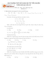 Các ph-ơng pháp giải nhanh bài tập trắc nghiệm Phần hoá học hữu cơ
