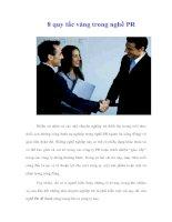 Tài liệu 8 quy tắc vàng trong nghề PR pptx