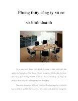 Tài liệu Phong thủy công ty và cơ sở kinh doanh docx