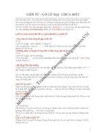 Tài liệu GIỚI TỪ- CÓ LẼ BẠN CHƯA BIẾT pdf
