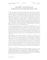 Tài liệu GIỚI THIỆU LÝ THUYẾT TRÒ CHƠI VÀ MỘT SỐ ỨNG DỤNG TRONG KINH TẾ HỌC VI MÔ- phần 1 doc